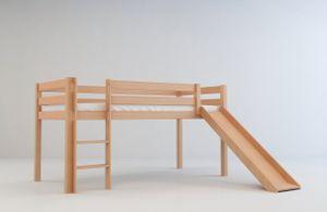Tim Kinderbett Hochbett Jugendbett mit Rutsche in natur 200x90 cm
