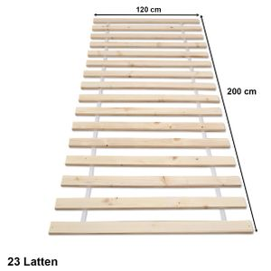 Rolllattenrost Lattenrost Rollrost Holzlatten Bettrost Latten 23 Latten 120 x 200 cm (Premium B)