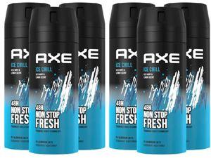 AXE Bodyspray Ice Chill Deo 6x 150ml Deospray Männerdeo ohne Aluminium Deodorant für Herren Männer Men