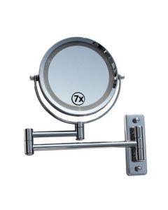 Lüllmann LED Licht Doppel Schminkspiegel Make up Spiegel Kosmetikspiegel mit Beleuchtung 7-fach 405262