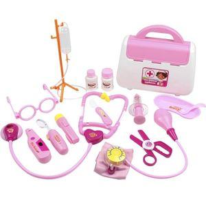 15pcs Arztkoffer Set Kinder Doktor Medizinisches Rollenspiel Spielzeug Arzt Spielset als Kinder Geschenk