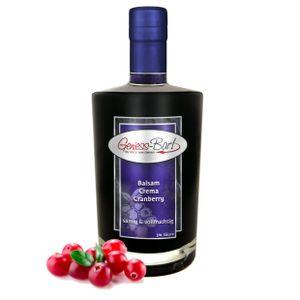 Balsamico Creme Cranberry 0,35L 3% Säure mit original Crema di Aceto Balsamico di Modena IGP