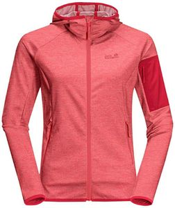 Jack Wolfskin MILFORD HOODED JACKET W tulip red tulip red S