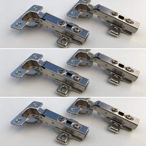 6er-Set Scharniere (neu) passend für Besta, Fritids, Stuva (Ikea) mit 6 Scharniere und 24 Schrauben
