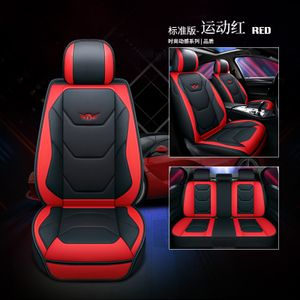 Universal Auto Sitzbezug Sitzbezüge Luxury PolyurethanKunstleder Schonbezüge Sitzauflage Autositzbezüg Farbe: Rot