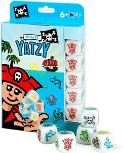CYE YATZY - Pirate | mit einfachen BILDWRFELN fr kleine Spieleinsteiger | REISESPIEL & Spielblock & Packung im Reise-Format | Spiele-Klassiker in der Piraten-Version Grundschler