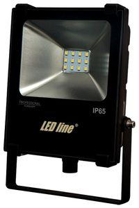 LED Line LED Fluter 10W 850lm Neutralweiß 4000K Flutlicht IP65 Außenstrahler Flutlichtstrahler Schwarz