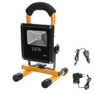 10W LED Arbeitsleuchte Baustrahler Handlampe Außen Outdoor Strahler Fluter Flutlicht, Wiederaufladbar mit Akku, IP65 Wasserdicht