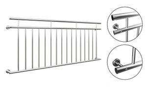 Französischer Balkon 225 cm Edelstahl Balkongitter Fenstergitter Stabgeländer Geländer