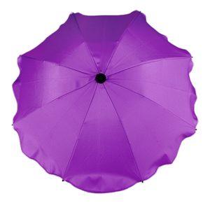 BAMBINIWELT Sonnenschirm für Kinderwagen Ø68cm UV-Schutz50+ Schirm Sonnensegel Sonnenschutz, lila