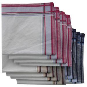 Stofftaschentücher 12er Pack für Damen und Herren Stoff Taschentücher  12er Pack 40cm x 40cm Design 6