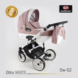 PolBaby Adbor Ottis White Kombikinderwagen 3in1 Auf Aluminiumstruktur- Ow-02