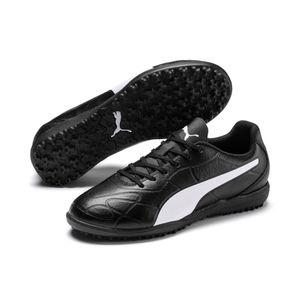 PUMA Monarch TT Jr Kinder Low Boot Fußballschuhe Schwarz-Weiss Schuhe, Größe:37