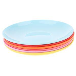 6pcs Kunststoff-Teller Plastik-Teller Plastikbesteck-Set