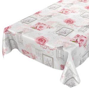 Liebe Rose Grau 100x140cm Wachstuch Tischdecke
