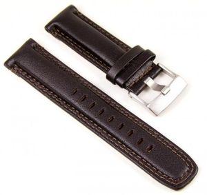 Timex Ersatzband Uhrenarmband Leder Band Dunkelbraun 22mm für T2N728