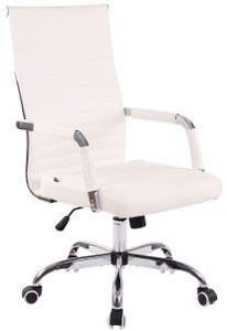 CLP Bürostuhl Amadora Kunstleder höhenverstellbar und drehbar, Farbe:weiß