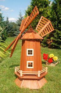 Garten-Windmühle aus Holz – Höhe 1,15 Meter