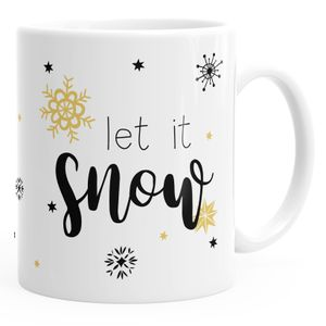 Tasse Weihnachten Winter Weihnachtstasse Weihnachtsbecher Geschenktasse Kaffeetasse Teetasse Keramiktasse Christmas Autiga® weiß unisize