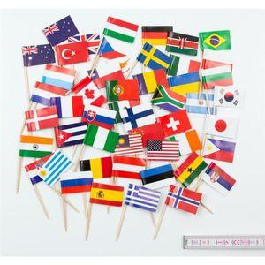 Zahnstocher 50 Länder bunt gemischt