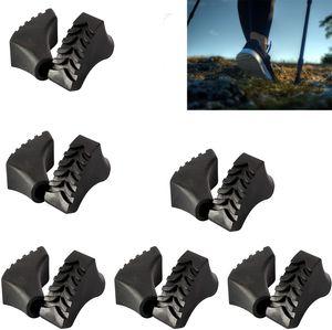 12 Pack Walking stöcke gummipuffer, Nordic Walking Pads, Geeignet für Wanderstöcke Trekkingstöcke Walkingstöcke, Asphalt Gummipuffer für Kies und Gebirge