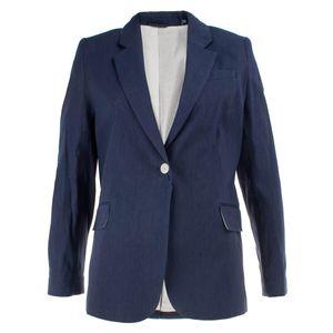 Gant Damen Blazer Stretch Leinen, Größe:40, Farbe:Blau(433)