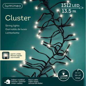 Kaemingk LED Cluster Lichterkette 1512 LED outdoor 13,5m schwarz