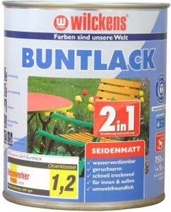 Wilckens Buntlack 2in1 Seidenmatt, 750 ml, Anthrazitgrau RAL 7016