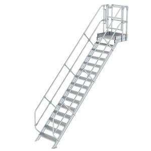 Günzburger Steigtechnik Treppen-Modul Aluminium geriffelt 15 Stufen