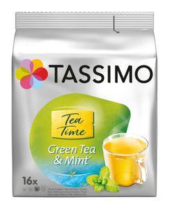 TASSIMO Kapseln Tea Time Grüner Tee Minze T Discs Teekapseln 16 Getränke Teekapseln