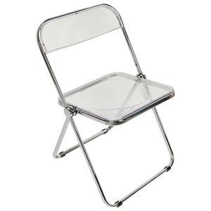 Acryl Klappstuhl Campingstuhl Stuhl mit Rückenlehne für Garten, Terrasse und Balkon Weiß