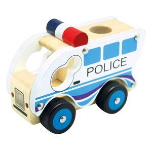 Bino & Mertens 84082 - Holzauto - Polizei