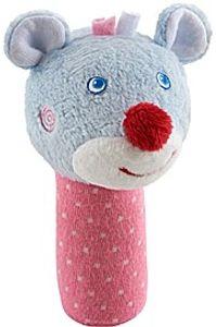 Haba greiffigur Mouse Merle Mädchen 9,5 cm rosa/grau
