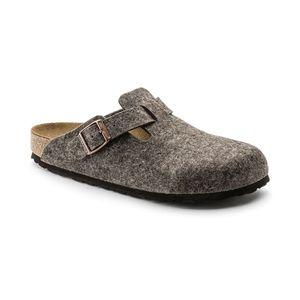 BIRKENSTOCK Boston  Clogs Pantoffel Hausschuhe Braun Schuhe, Größe:41