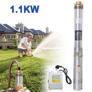 Hengda 1.1kW/1.5hp Tiefbrunnenpumpe bis 4.000 l/h F?rdermenge Automatic Brunnenpumpe Sandvertr?glich Tauchdruckpumpe 8.1 bar max