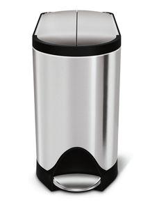 simplehuman 10 Liter schmetterling Treteimer, fingerabdrucksicherer Edelstahl - 3,5x3,5x25 cm; CW1899