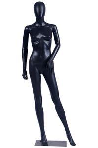 Frau FC-4Black Schaufensterpuppe matt schwarz ohne Gesicht Arme und Kopf Schaufensterpuppe Female