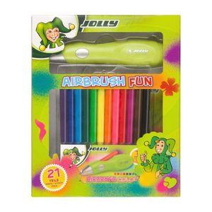 JOLLY Airbrushset für Kinder - Elektrischer Airbrush-Stift inkl. Vorlagen (Airbrush Fun)