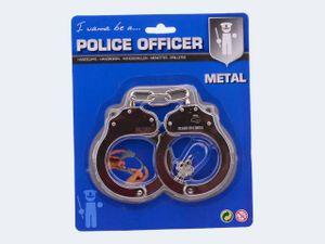 Johntoy Handschellen aus Metall 27 cm Silber
