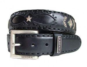 Sendra Leder Gürtel 7211 schwarz, Länge:100 cm