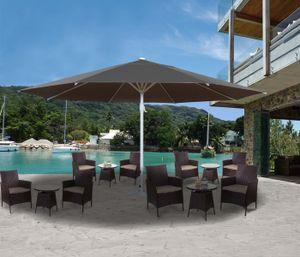 Sonnenschirm Meran II, Gastronomie Marktschirm, Ø 5m Polyester/Alu Mast weiß 28kg  anthrazit ohne Ständer