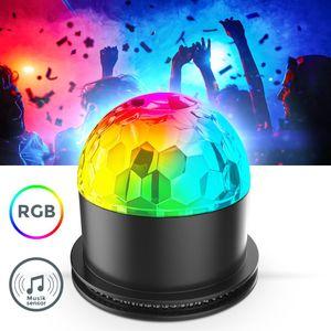 LED Discolicht I Partylicht I Musiksensor I rotierend I Farbwechsel I Discokugel I Partyleuchte I RGB Tischlampe