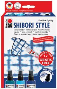 "Marabu Textilsprühfarbe ""Fashion-Spray"" Set SHIBORI STYLE"