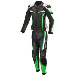 Büse Mille 2-Teiler Damen Motorrad Lederkombi Farbe: Schwarz/Grün, Grösse: 38