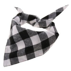 Haustierhalstuch Dreieckstuch Bandana für Hunde und Katzen Schwarz weiß l wie beschrieben