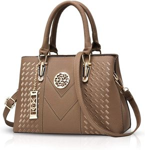 Damenhandtaschen Handtaschen Topgriffe Schultertasche Umhängetaschen Klassische Handtaschen von Frauen Khaki