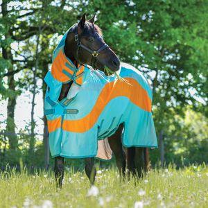 Horseware Amigo Evolution Untreated  - Aqua/Orange & Aqua, Größe:160