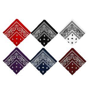 6 Stück Paisley Bandana (Weinrot, Schwarz, Weiß, Lila, Marineblau, Rot)