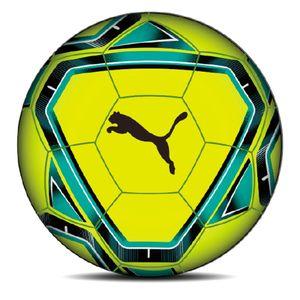 PUMA teamFINAL 21.4 IMS Hybrid Fußball lemon tonic/spectra green/ocean depths/puma black 5