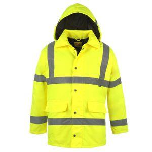 Dunlop Herren, Herren Hi Vis Parka Jacket XXL